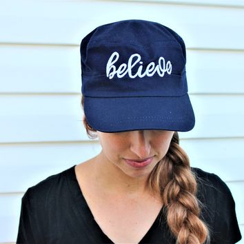 Believe hat, women's believe hat | mama style hat