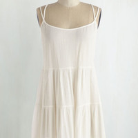 Long Spaghetti Straps Hear You Cloud and Tier Tunic by ModCloth