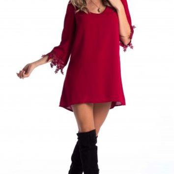 Falls dress in wine | SHOWPO Fashion Online Shopping