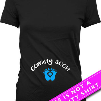 Pregnancy Announcement Shirt Baby Announcement Pregnancy Reveal Coming Soon Maternity Outfits Gifts For Expecting Mothers Ladies Tee MAT-551