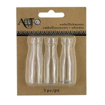 Mini Clear Craft Champagne Bottle Set ( Case of 40 )