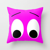 I is Shocked Throw Pillow by Alice Gosling | Society6