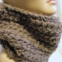Chunky Cowl Infinity Scarf - Neckwarmer - Scarf Cowl - Infinity Scarves - Loop Eternity Cowl - Wool Blend - Gift for Women - Gift for Him