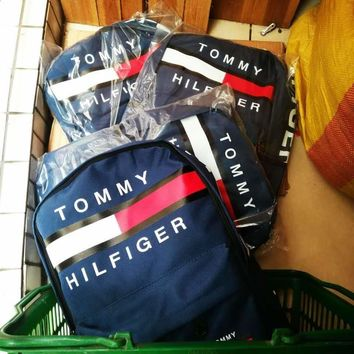 Day-First™ TOMMY HILFIGER: Casual Sport Laptop Bag Shoulder School Bag Backpack H Z