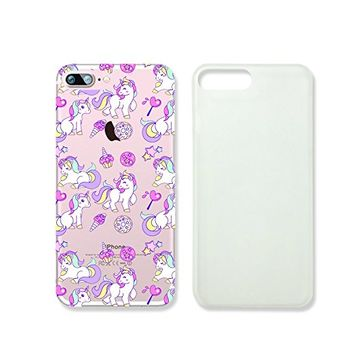 Cute Unicorns Slim Iphone 7 Case, Clear Iphone Hard Cover Case For Apple Iphone 7 Emerishop (NLA213.7sl)