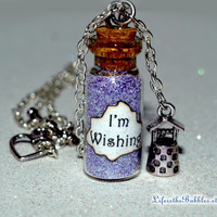 Snow White I'm Wishing Magical Necklace with a Wishing Well Charm, Disney Inspired, by Life is the Bubbles