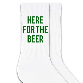 Here For The Beer - St. Patrick's Day Crew Socks