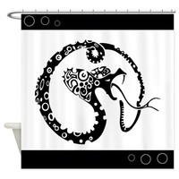 Black And White Snake Shower Curtain