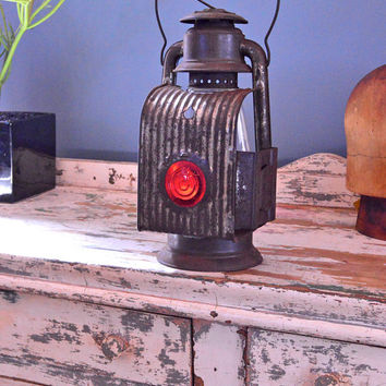Antique Midget Lantern, Midget Cold Blast Driving Lantern, Embury Mfg. Co. Warsaw New York