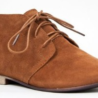 Breckelle's SANDY-41 Basic Casual Lace Up Flat Desert Ankle Boot Bootie Shoe
