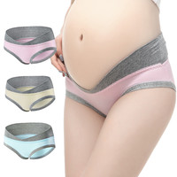 3Pcs/Lot Cotton Pregnancy Briefs Maternity Panties Women Clothes Pregnant Women Underwear U-Shaped Low Waist Maternity Underwear