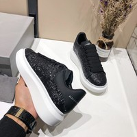 Alexander McQueen Women Men Fashion Casual White and Black sports shoes Size 36-45