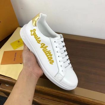 Men's Lv Time Out Sneaker With Gold