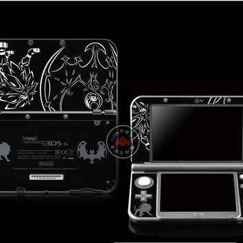 Protective Skin Sticker for  Sun & Moon Nintendo NEW 3DS LL / NEW 3DS XL BlackKawaii Pokemon go  AT_89_9