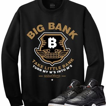 Jordan 4 Black Laser Gum Crewneck Sweater - BIG BANK RK