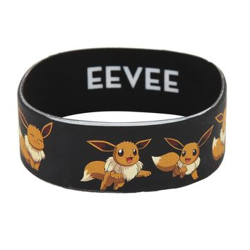 Licensed cool Pokemon GO EEVEE Character Poses Rubber Bracelet Wristband Licensed Jewelry NEW