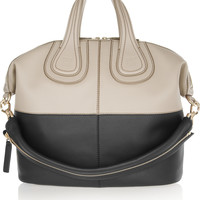 Givenchy - Medium Nightingale bag in mushroom and black leather