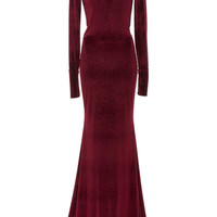 Fitted Long Sleeve Gown | Moda Operandi