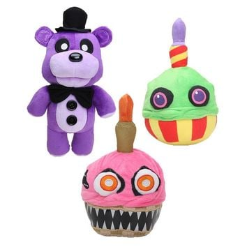 30cm -38cm   At  Golden Freddy Fazbear Nightmare Fredbear Mangle Foxy BB Balloon Boy Clown Plush Toys