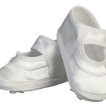 Mary Jane Style Satin Bootie Dress Shoes with a Bow on the Sole (Infant Girls newborn - 7 months)