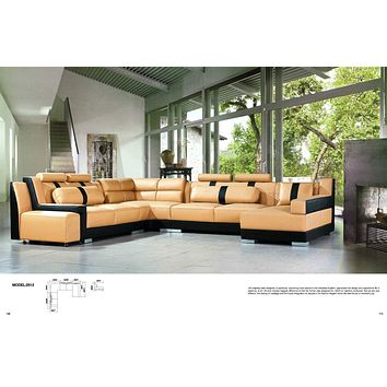 Luxury Sectional Sofa Living Room Furniture White Leather Sofa Set