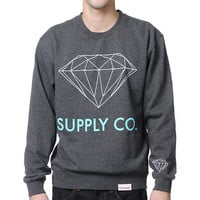 Diamond Supply Charcoal Neck Sweatshirt