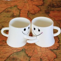 City Block Adorable Couple Milk and Coffee Mug Great Gift for Love