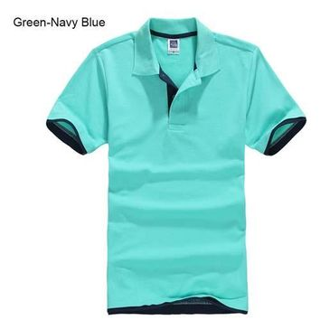 Turquoise with Navy Blue Men's/ Women's Polo Shirt XS-3XL