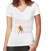 'Candy Store-Heathers: The Musical' Women's Fitted V-Neck T-Shirt by a5htag