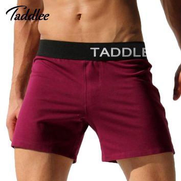 Taddlee Brand Sexy Mens Underwear Boxers Cotton Trunks Running Sport Shorts Men Sweatpants Jogger Boxer Gay Active Shorts