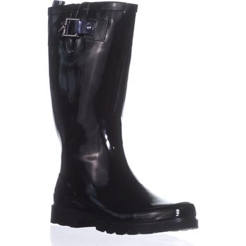 Nautica Finsburt Knee High Rain Boots, Black, 6 US / 36 EU