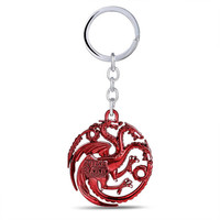 Game of Thrones /Targaryer/ Red Key Chain/A Song of Ice & Fire