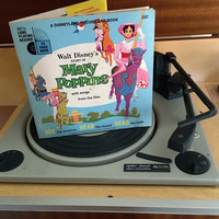 Vintage 1964 Mary Poppins by Disneyland Records - Story Book and Vinyl Record / Walt Disney Productions