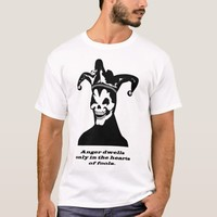 jester clown skeleton goth anger quote art T-Shirt