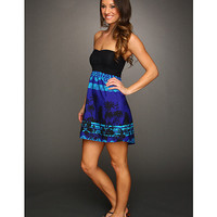 Roxy Savage Tube Dress (Juniors) Electric Blue Print - Zappos.com Free Shipping BOTH Ways