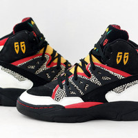 Vintage Adidas Dikembe Mutombo basketball shoes // Made in China // Deadstock Mens Trainers Sneakers Hi Tops - 1993 90s