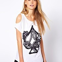 b + ab Ace T-Shirt With Cold Shoulder at asos.com