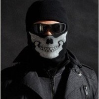 Derkang Ghost Skull Black Mask