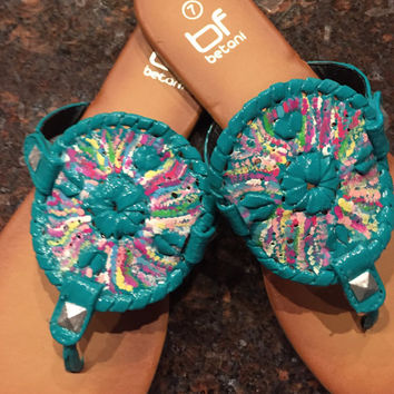 "Lilly Pulitzer inspired ""georgica"" like Jack Rogers sandals"