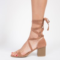 Lace-Up Block Heel Sandals