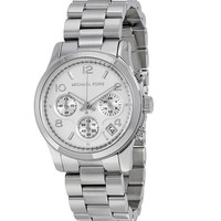 Michael Kors Silver Midsized Chrono Ladies Watch MK5076