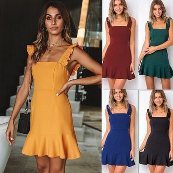 European and American holiday style new sexy sleeveless dress women's clothing