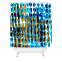 Randi Antonsen Raindrops Shower Curtain