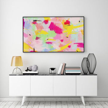 Colorful Poster, Abstract Art, Paint Art Print, Pastel Print, Colorful Decor, Minimalist Poster, Modern Wall Art, Abstract Wall Art, 11x14