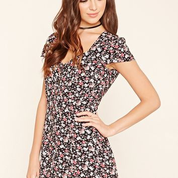 Floral Print Button-Down Dress