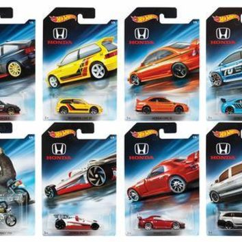 New 2018 Hot Wheels Honda Series Cars Full Set 1-8 Cars