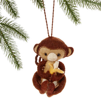 Monkey Fair Trade Felt Tree Ornament