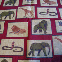 Elephant Tapestry Fabric Upholstery Fabric Designer Fabric, Animal Print Fabrics Upholstery Squares Pillow Fabric