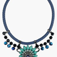 Women's Topshop Green Navette Collar Necklace - Blue Multi