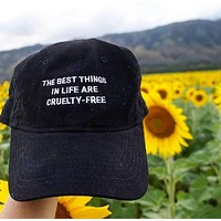 The Best Things in Life Are Cruelty Free - Caps